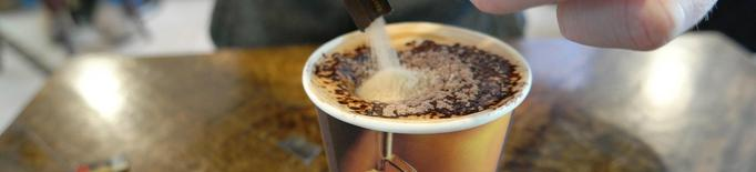 Cafè take away menjar per emportar beguda reciclable biodegradable