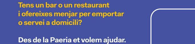 La Paeria de Balaguer publicitarà els bars i restaurants de la ciutat que ofereixin menjars per emportar o servei a domicili.