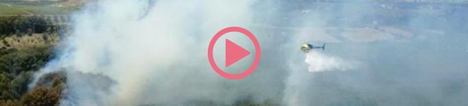 ⏯️ Un incendi crema una hectàrea a la partida Torres de Sanui de Lleida