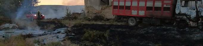 Crema una finca abandonada a la partida Vallcalent