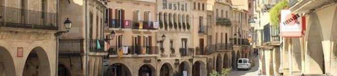 Vista de la plaça de la Constitució de les Borges Blanques que es vol canviar de nom a plaça 1 d'octubre