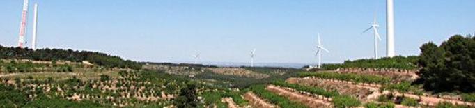Pla general d'un dels parcs eòlics de la Terra Alta, a Vilalba dels Arcs
