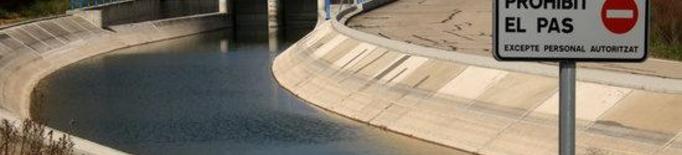 Pla mitjà on es pot veure el canal Segarra-Garrigues a l'alçada de Talladell, a Tàrrega