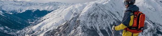 Primer pla d'un esquiador a l'estació aranesa de Baqueira Beret