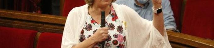 Pla americà de la consellera de Salut, Alba Vergés, intervenint al ple del Parlament