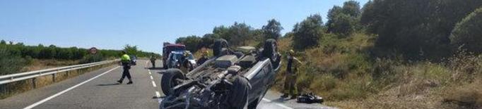 Mor el conductor d'un cotxe a la C-31 a la Sentiu de Sió