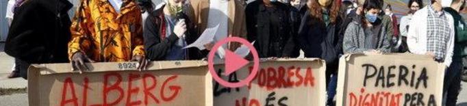 ⏯️ Entitats socials es concentren a la Fira de Lleida per exigir un alberg públic