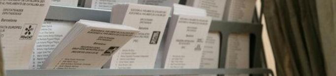 Primer pla de les paperetes de les eleccions del 14-F