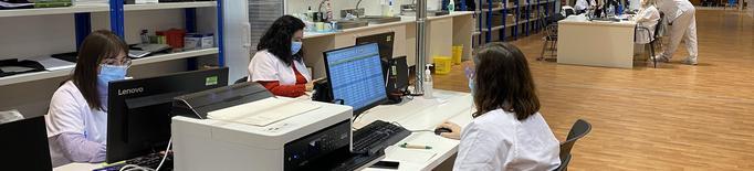 Baixa afluència a la jornada de vacunació al pavelló Onze de Setembre