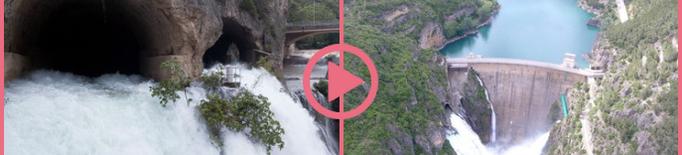 ⏯️ El desembassament de Camarasa a vista de dron