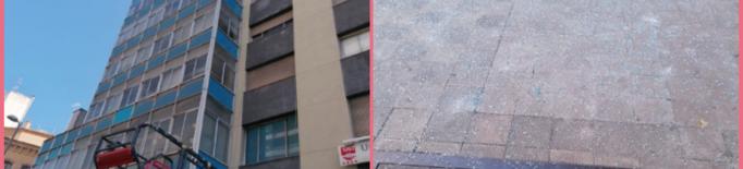L'edifici dels sindicats a Lleida pateix danys estructurals
