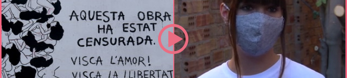 ⏯️ L'artista Cristina Dejuan comença a pintar el seu mural censurat en una nova ubicació a Torrefarrera