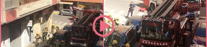 ⏯️ Incendi en un habitatge del carrer Dolors 'Lolín' Sabater de Lleida
