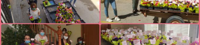 Massalcoreig regala flors pel Dia de la Mare