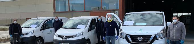 La Diputació de Lleida cedeix a Salut dues furgonetes més