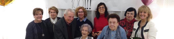 Tàrrega homenatja Carme Cunillera Segarra, àvia centenària