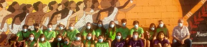 Cervera llueix un nou mural fet per joves