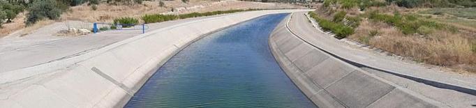 El Canal Segarra - Garrigues al seu pas pel terme municipal de Tàrrega