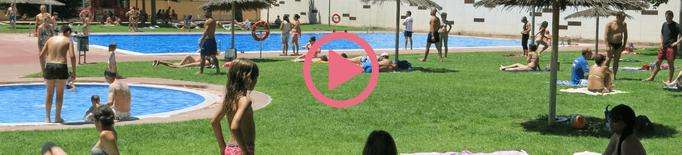 ⏯️ Veïns i veïnes de Lleida reclamen a la Paeria l'obertura de les piscines municipals