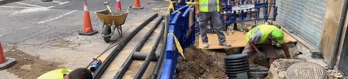 obres millora xarxa aigua carrer Bonaire Sant Martí  Teuleries