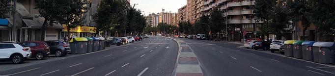 Lleida, deserta, a l'espera de la revisió del confinament aquesta setmana