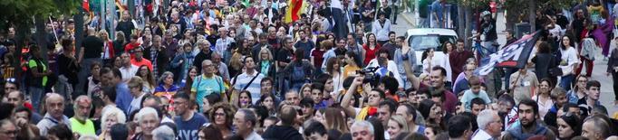 #VagaGeneral18O: Mobilització històrica a Lleida contra la sentència