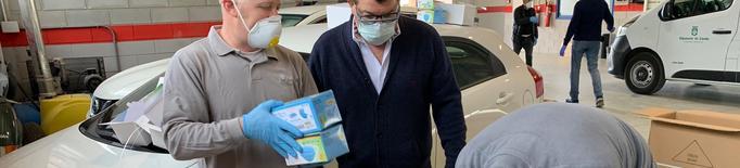 La Diputació de Lleida reparteix 50.000 mascaretes i 1.200 ulleres de protecció entre els ajuntaments de la demarcació