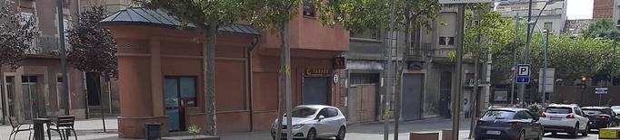 Nous aparcabicis instal·lats a l'avinguda del Raval del Carme