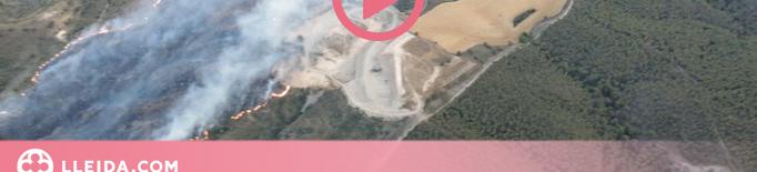 Un incendi afecta 55 hectàrees de vegetació al Segrià