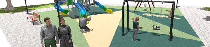 Comencen les obres de renovació del parc infantil del Terrall de les Borges Blanques