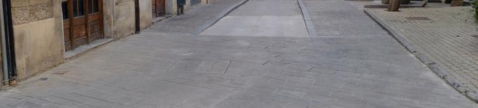 Millores  a les lloses malmeses del paviment del centre de Tàrrega
