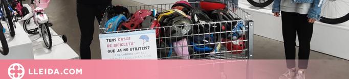 La campanya solidària del BTT Tàrrega recull 45 cascs de bicicleta per a infants i joves