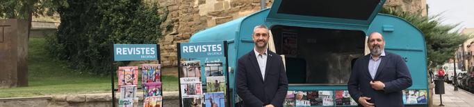 'iQUIOSC.cat en ruta' farà parada a 10 pobles de Lleida per portar-hi les revistes en català