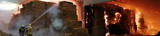 Incendi en una nau agrícola de Vallfogona de Balaguer