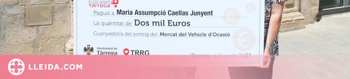 Tàrrega lliura 2.000 euros entre els compradors del 8è Mercat del Vehicle d'Ocasió