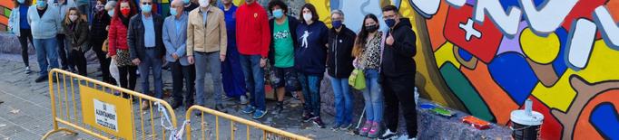 Mollerussa estrena un mural inclusiu pel Dia de la Salut Mental