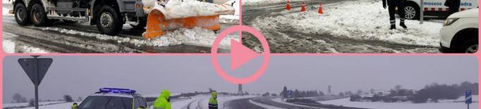 ⏯️ La neu obliga a suspendre el transport escolar a el transport escolar a nou comarques de Ponent