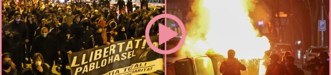 ⏯️ Lleida torna a cremar en la segona nit de protestes per l'empresonament de Hasel
