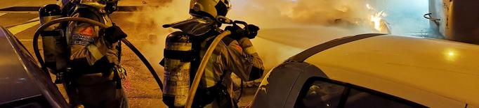 Set contenidors cremats a la ciutat de Lleida la nit i matinada de dissabte
