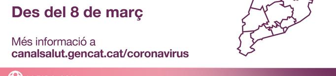 ℹ️ Noves mesures contra la covid-19 a partir del 8 de març