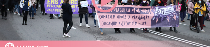 ⏯️ Lleida surt al carrer per reivindicar un 8M feminista i anticapitalista