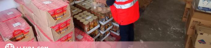 Creu Roja Lleida repartirà 200.000 quilos de menjar entre més d'11.000 persones