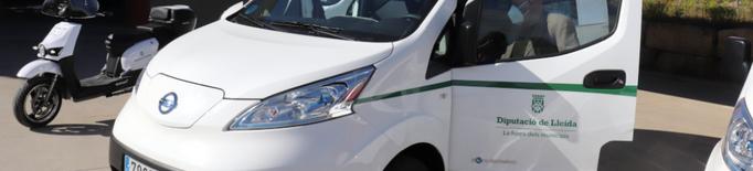 La Diputació suma tres nous vehicles 100% elèctrics al seu parc mòbil