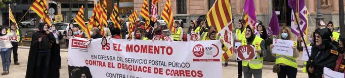 """Treballadors de Correus denuncien a Lleida el """"desmantellament"""" de l'empresa pública"""