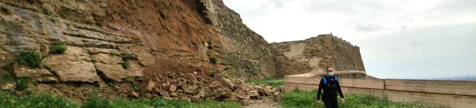 ⏯️ Actuació d'urgència per consolidar la muralla afectada de la Seu Vella