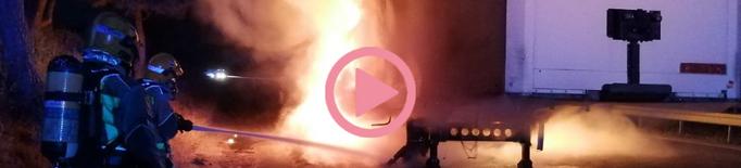 ⏯️ Crema part d'un remolc d'un camió a l'A-2 al Segrià