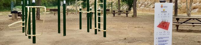 Torres de Segre instal·la un circuit de cal·listènia i elements biosaludables a l'aire lliure