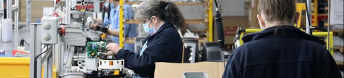 La producció industrial a Catalunya creix durant la primera meitat de l'any
