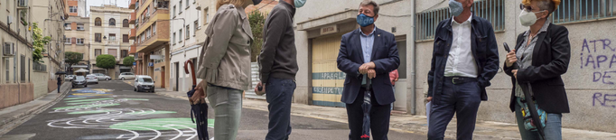 Lleida homenatja el Mestre Emili Pujol amb un mural i la vianalització del seu carrer