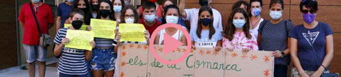 ⏯️ Alumnes del Pla d'Urgell reclamen a Educació transport escolar d'ESO i postobligatoris